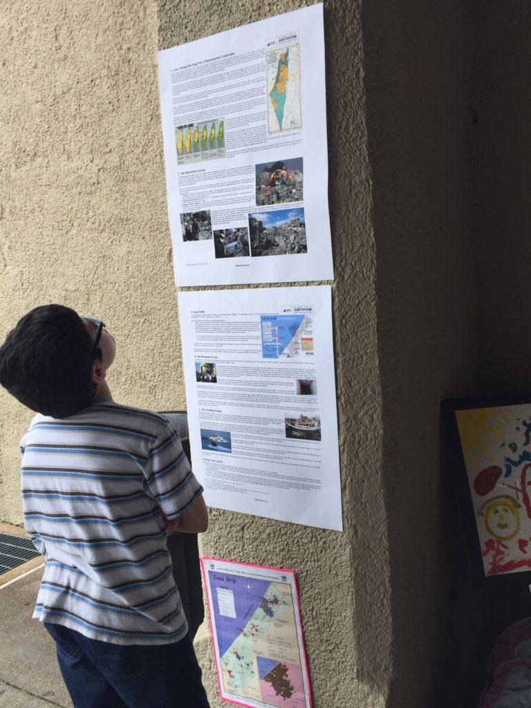 Display on Gaza history and situation