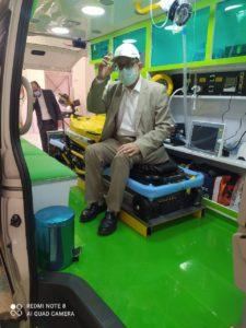 Dr Mustafa in ambulance
